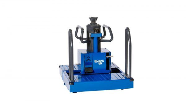 Air Hydraulic Floor Pit Jack with Traversing Telescopic Cylinder